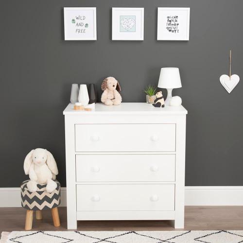 CuddleCo Aylesbury Dresser - Satin White
