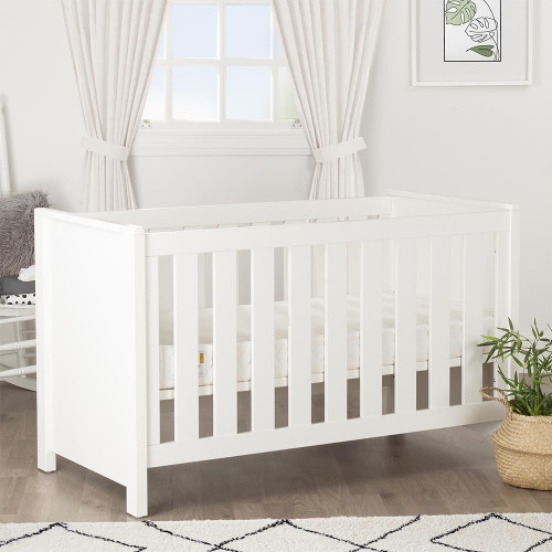 CuddleCo Aylesbury Cot Bed - Satin White