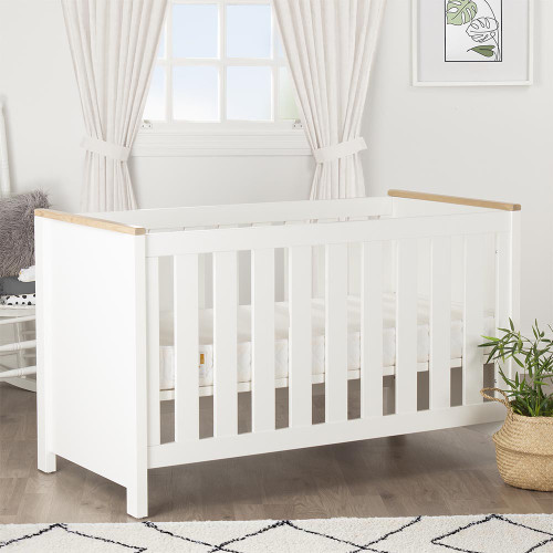CuddleCo Aylesbury Cot Bed - Driftwood Ash