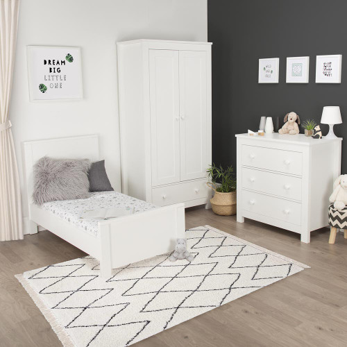 CuddleCo Aylesbury 3 Piece Room Set - Satin White