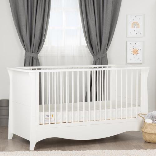 CuddleCo Clara Cot Bed - Satin White