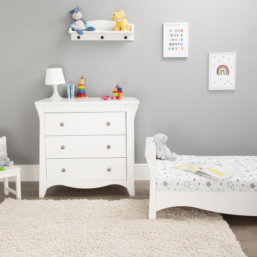 CuddleCo Clara 2 Piece Room Set - Satin White