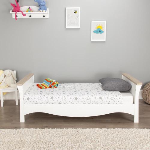 CuddleCo Clara Cot Bed - Driftwood Ash