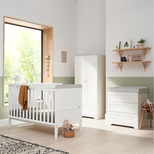Tutti Bambini Rio 3 Piece Room Set - White / Dove Grey