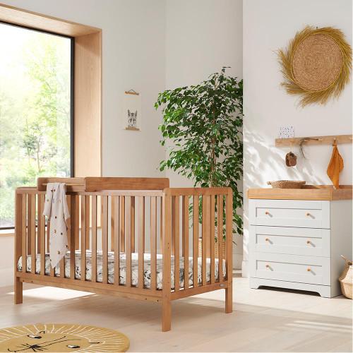 Tutti Bambini Malmo 2 Piece Room Set - Oak / Dove Grey