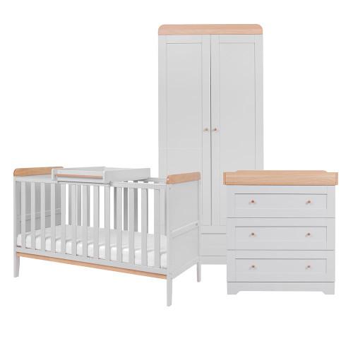 Tutti Bambini Rio 3 Piece Room Set  - Dove Grey / Oak
