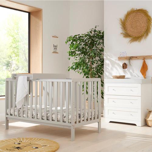 Tutti Bambini Malmo 2 Piece Room Set - Dove Grey / White