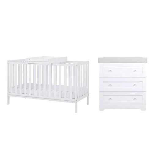 Tutti Bambini Malmo 2 Piece Room Set - White / Dove Grey