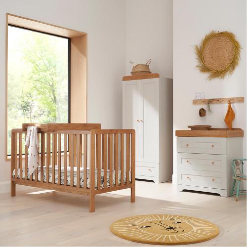 Tutti Bambini Malmo 3 Piece Room Set -  Oak / Dove Grey