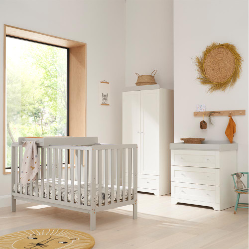 Tutti Bambini Malmo 3 Piece Room Set -  Dove Grey / White