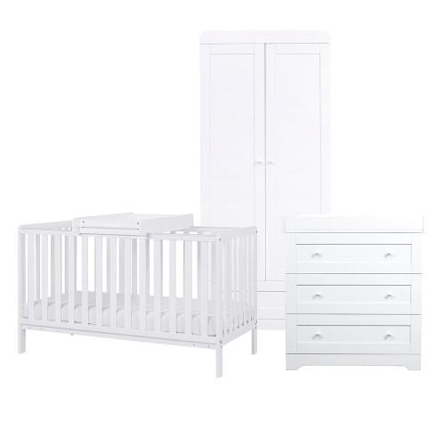 Tutti Bambini Malmo 3 Piece Room Set - White