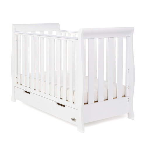 Obaby Stamford Sleigh Mini Cot Bed - White