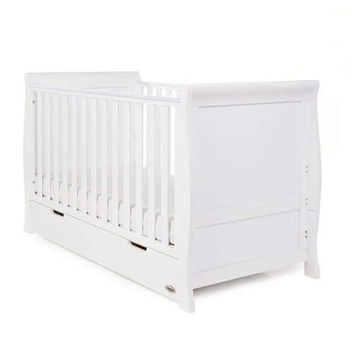 Obaby Stamford Classic Sleigh Cot Bed - White