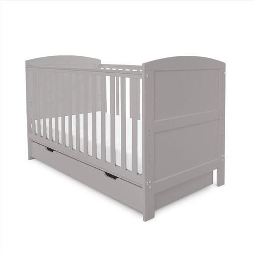 Ickle Bubba Coleby Cot Bed & Under Drawer - Grey