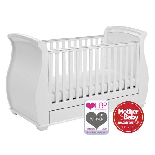 Babymore Bel Drop Side Cot Bed - White