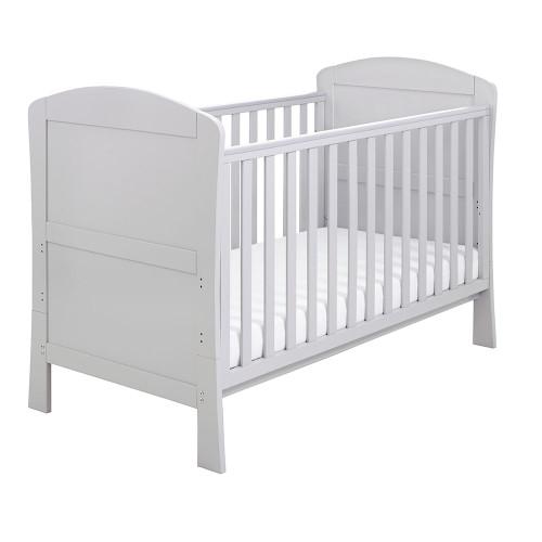 Babymore Aston Drop Side Cot Bed - Grey