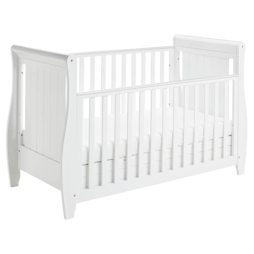 Babymore Stella Drop Side Cot Bed - White