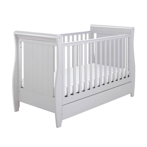 Babymore Stella Drop Side Cot Bed - Grey