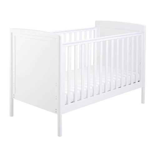 Babymore Milo Drop Side Cot Bed - White