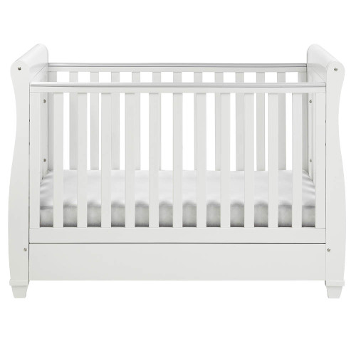 Babymore Eva Drop Side Cot Bed - White