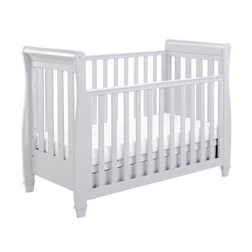 Babymore Eva Drop Side Cot Bed - Grey