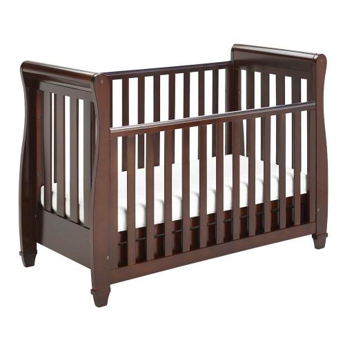 Babymore Eva Drop Side Cot Bed - Brown