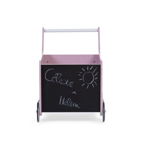 Childhome Wooden Stroller - Soft Pink