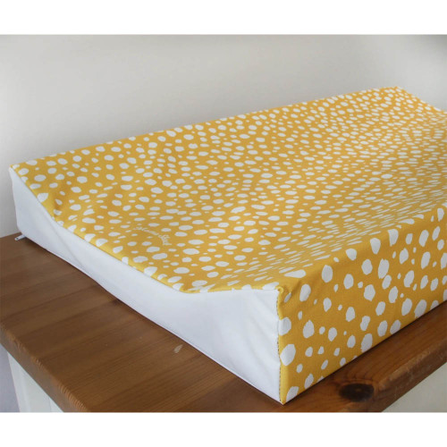 Mama Shack Wedge Changing Mat - Mustard Spotty