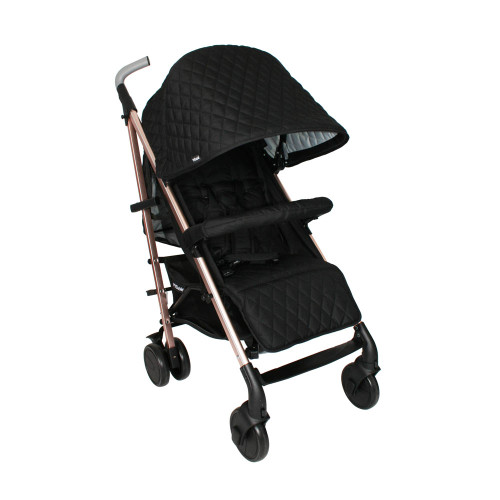 My Babiie MB51 Stroller - Billie Faiers/Rose Gold Black Quilted