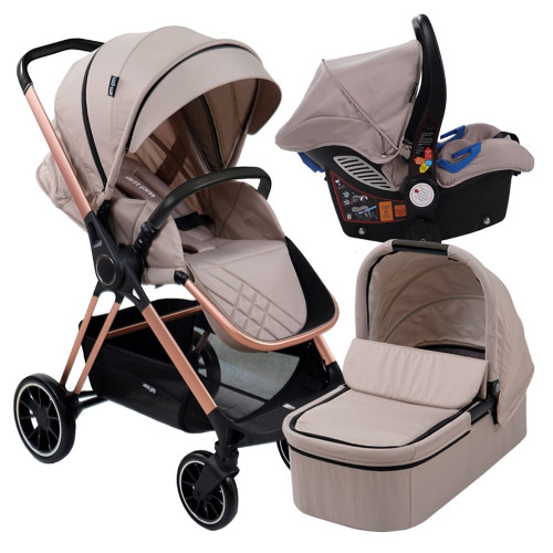 My Babiie MB250 Travel System - Christina Milian AM to PM/Nude Victoria