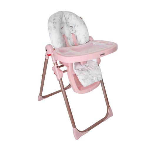 My Babiie Premium Highchair - Nicole Snooki Polizzi/Rose Gold Marble