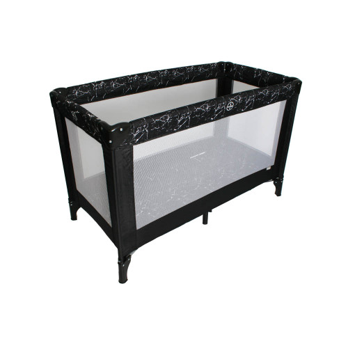 My Babiie Travel Cot - Black Marble