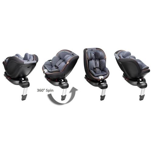 Mee-go Swirl i-Size Car Seat - Pebble Grey