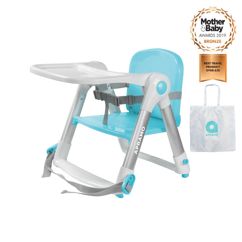 Apramo Flippa Dining Booster + FREE Carry Bag - Turquoise