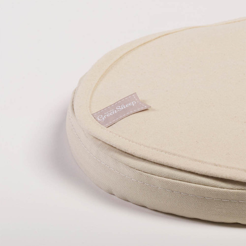 Little Green Sheep Waterproof Organic Moses Basket/Carrycot Mattress Protector