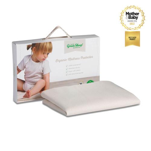 Little Green Sheep Waterproof Organic Chicco Next 2 Me Crib Mattress Protector