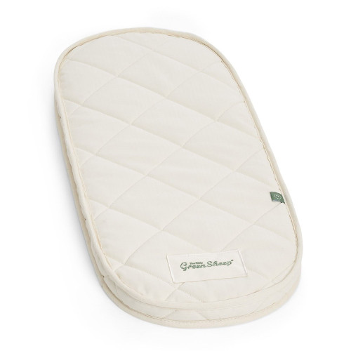 Little Green Sheep Carrycot Mattress (Uppababy Vista/Cruz) - Natural