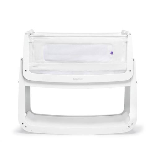 SnuzPod 4 Bedside Crib with Mattress - White