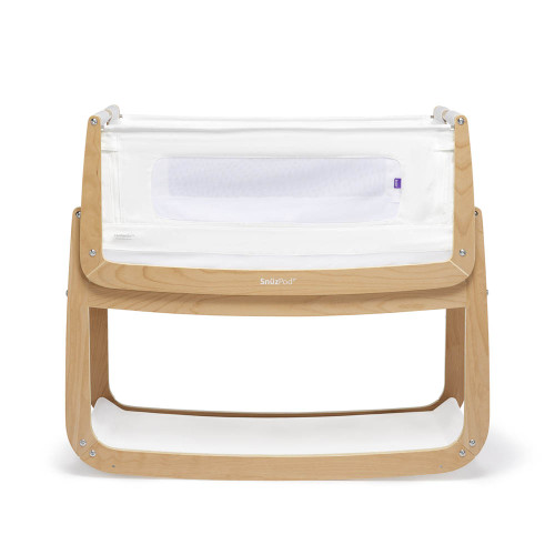 SnuzPod 4 Bedside Crib with Mattress - Natural