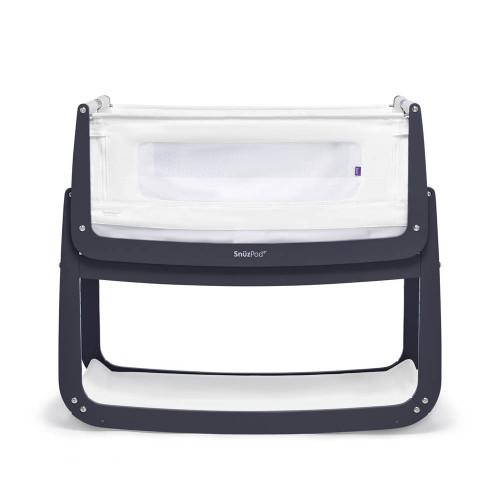 SnuzPod 4 Bedside Crib with Mattress - Navy