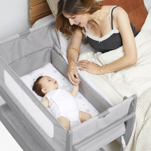 SnuzPod 4 Bedside Crib with Mattress - Urban