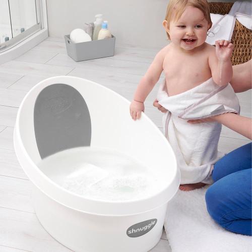Shnuggle Toddler Bath - White/Dark Grey