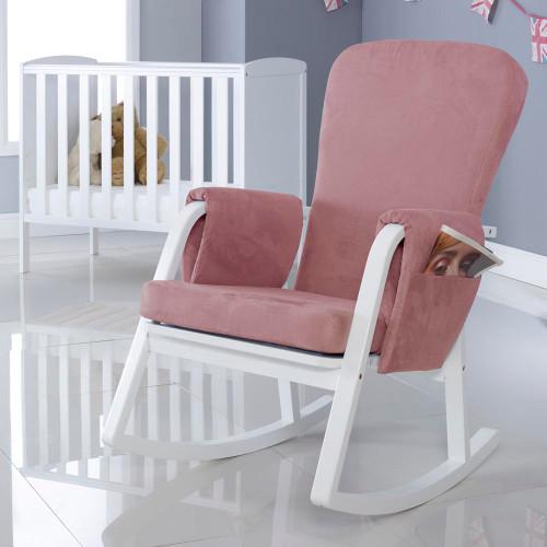Ickle Bubba Dursley Rocking Chair - Blush Pink