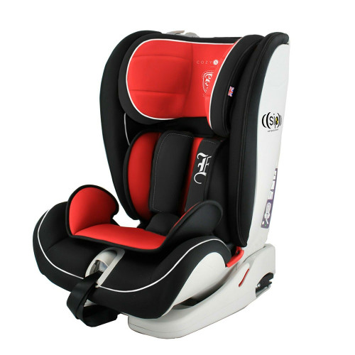 Cozy N Safe Excalibur E 1/2/3 Car Seat - Black/Red