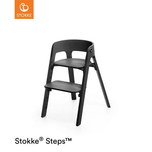 Stokke® Steps™ Chair - Black Seat / Black Legs