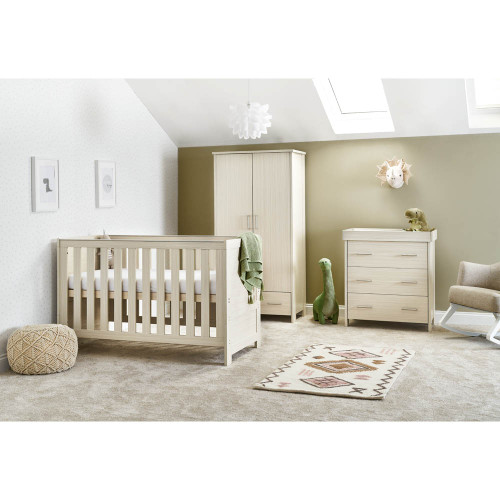Obaby Nika 3 Piece Room Set - Oatmeal