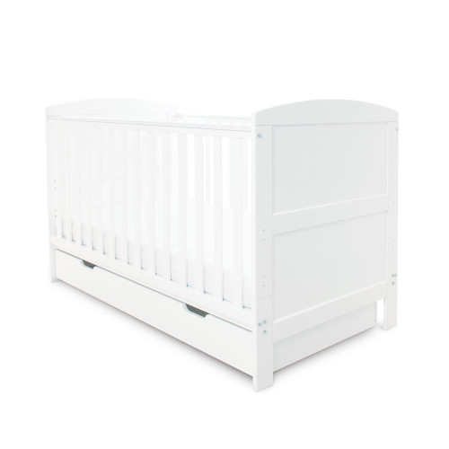 Ickle Bubba Coleby 5 Piece Super Bundle incl Sprung Mattress - White