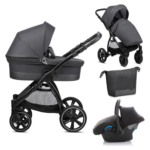 Noordi Sole Go 3-in-1 Travel System - Black
