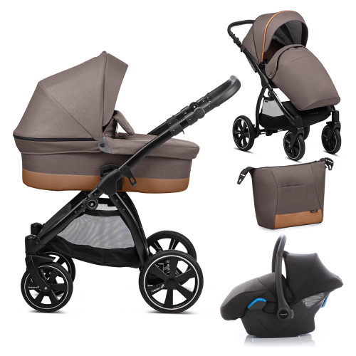 Noordi Sole Go 3-in-1 Travel System - Dark Brown