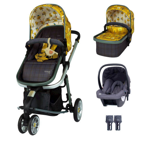Cosatto Giggle 3 Travel System Bundle inc Hold Graphite - Spot The Birdie